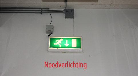 LED noodverlichting met bestickering
