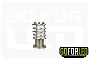 Lantaarn RVS      30cm hoog inclusief LEDlamp