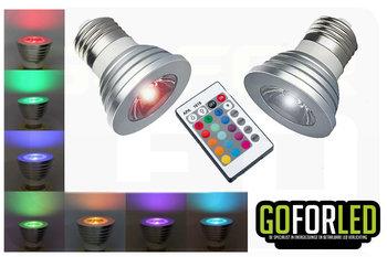RGB spot 3Watt incl.afstandsbediening