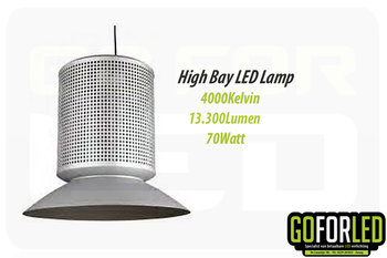 High Bay Ampera 4000K normaal wit 70Watt
