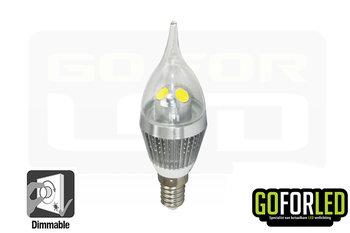 Dimbaar 3Watt kaarslamp
