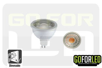 Dimbare spot 6Watt COB LED warm wit 2800K