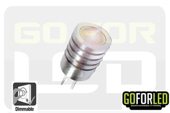 G4 dimbaar steeklampje warm wit 1,5Watt  COB LED
