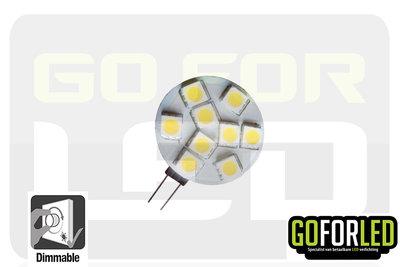 G4 dimbaar LEDlampje warm wit 1,5Watt met 9-LED's